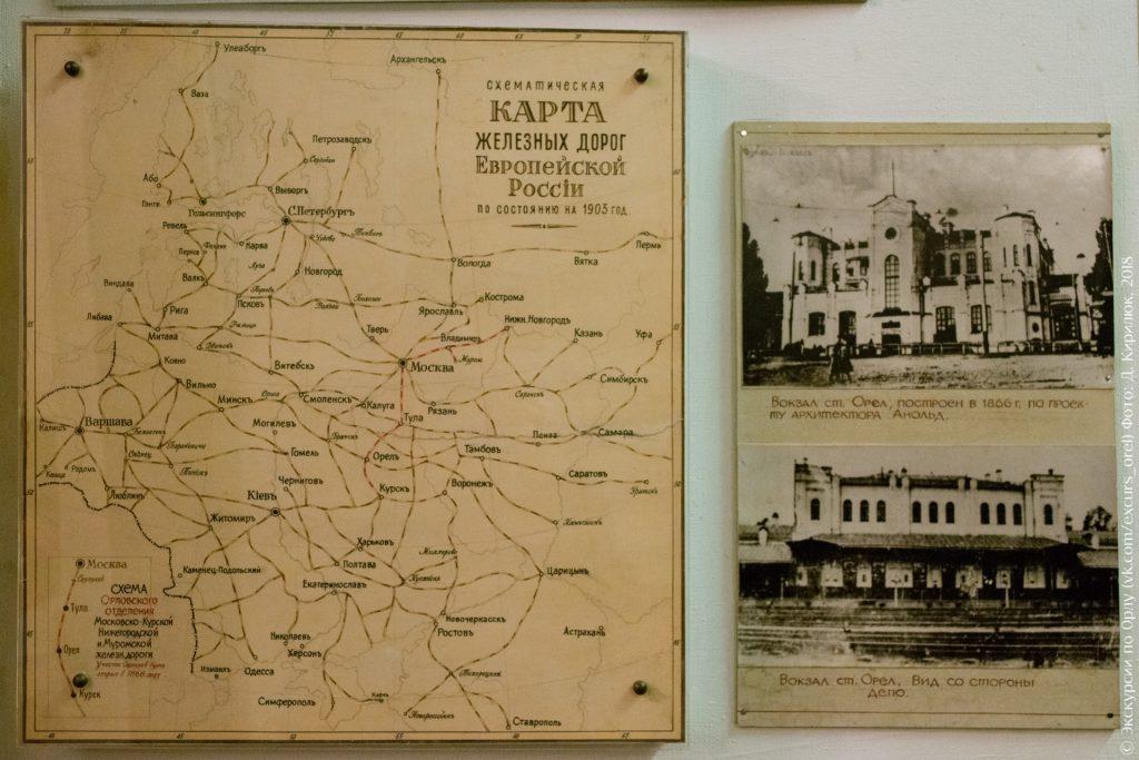 Карта железных дорог России 1903 года