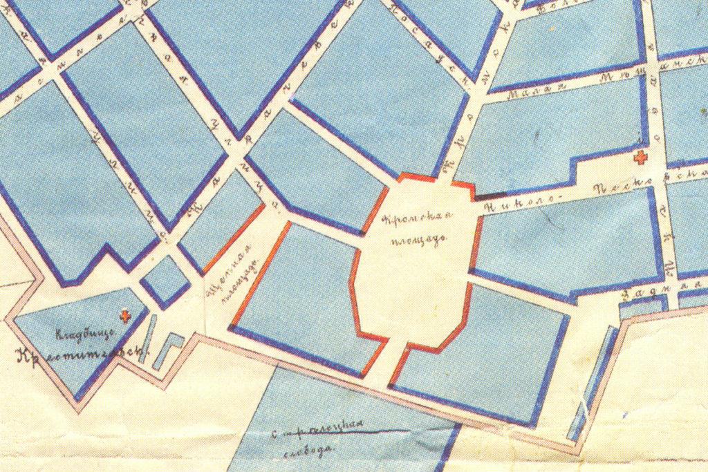 Старая карта Орла. Кромская площадь и окрестности.